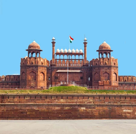 Architectural detail of Lal Qila - Red Fort in Delhi, India Stock Photo - 16127192