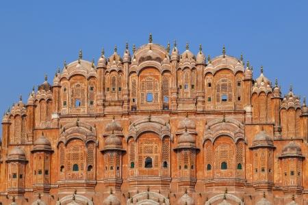 Hawa Mahal, der Palast der Winde in Jaipur, Rajasthan, Indien.