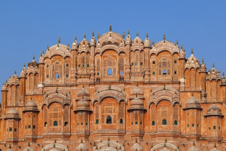 old architecture: Hawa Mahal, the Palace of Winds in Jaipur, Rajasthan, India.