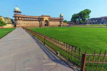 unesco world cultural heritage: India: Jahangiri Mahal in Agra fort,  a Unesco World Heritage site, and one of the biggest tourist highlights, just 2 km of Taj Mahal. Built by several Mughal emperors from XV to XVI centuries. Uttar Pradesh, India.