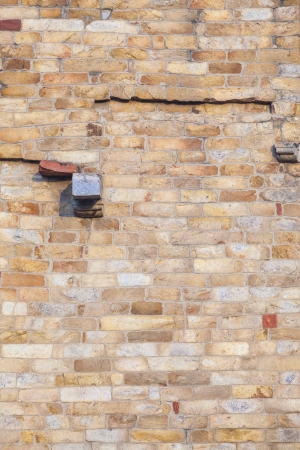 quitab: stones at the wall of Qutub Minar Tower, the tallest brick minaret in the world , Delhi India. Stock Photo
