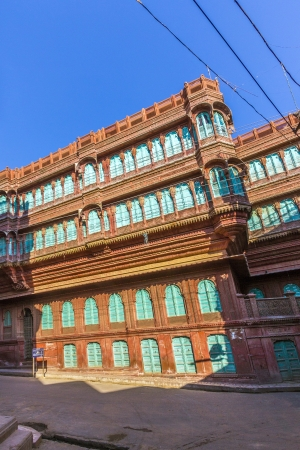 bikaner: beautiful old haveli in Bikaner, Rajasthan, India
