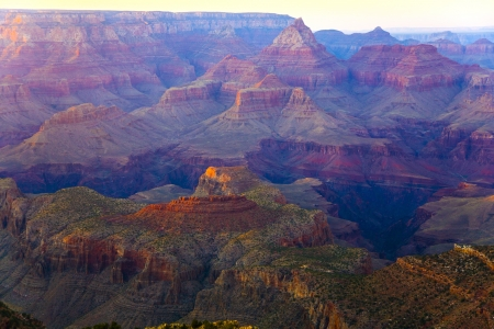 south rim: colorful Sunset at Grand Canyon seen from Mathers Point, South Rim