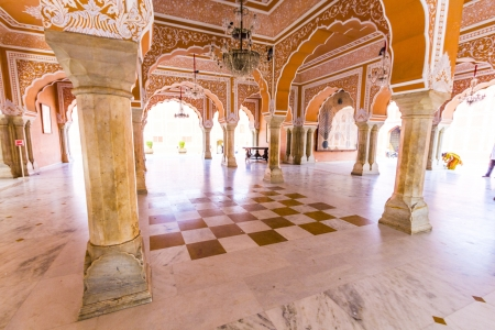 maharaja: Chandra Mahal in City Palace, Jaipur, India. It was the seat of the Maharaja of Jaipur, the head of the Kachwaha Rajput clan. The Chandra Mahal palace seen in this photo now houses a museum.