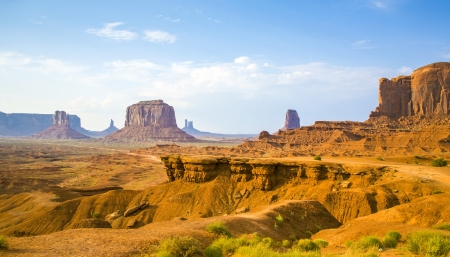 view from john fords point to the giant Merrick buttes,  sandstone formations in the Monument valley photo