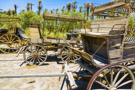 old historic stage wagons at the ranch Stock Photo - 16721933