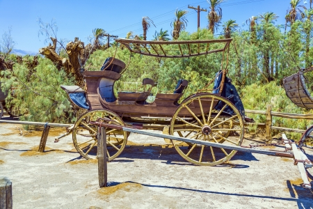 old historic stage wagons at the ranch Stock Photo - 16721935