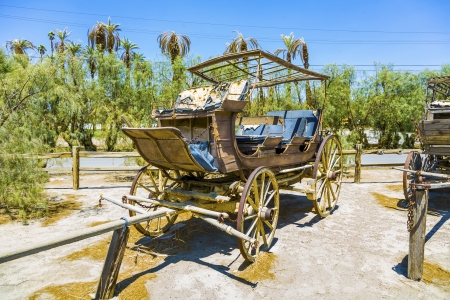 old historic stage wagons at the ranch Stock Photo - 16721934
