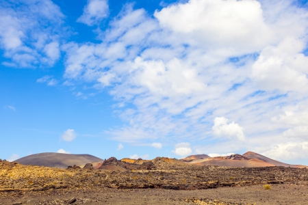 famous volcanoes of  Timanfaya National Park photo