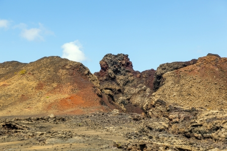 aerea: famous volcanoes of  Timanfaya National Park Stock Photo