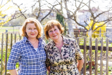 mother and daughter, red haired looking confident and happy Stock Photo - 16864756
