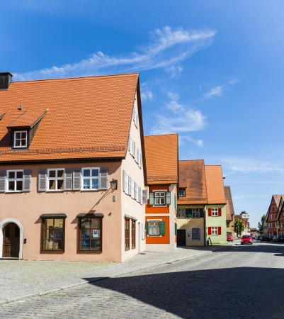 middleages: romantic Dinkelsbuehl, city of late middleages and timbered houses