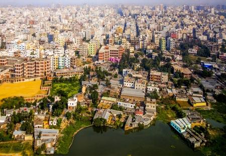 slums: Aerial of Dhaka, the Capital of Bangladesh