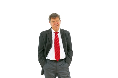 succesful: smart succesful business man with red tie Stock Photo