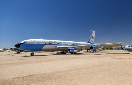TUCSON, USA - JULY 14: visiting the Pima Air and space Museum at July 14, 2012 in Tucson, USA. The air force one ist the aircraft of the american president. Stock Photo - 16979056