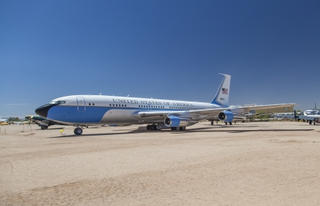 TUCSON, USA - JULY 14: visiting the Pima Air and space Museum at July 14, 2012 in Tucson, USA. The air force one ist the aircraft of the american president. Stock Photo - 16979054