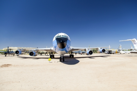 TUCSON, USA - JULY 14: visiting the Pima Air and space Museum at July 14, 2012 in Tucson, USA. The air force one ist the aircraft of the american president. Stock Photo - 16979057