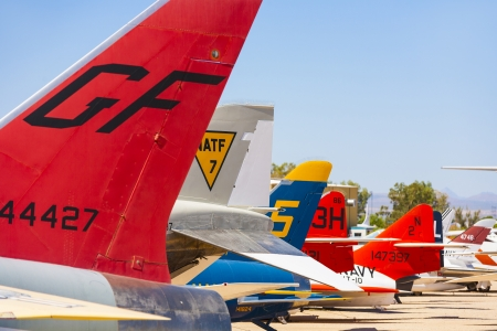 TUCSON, USA - JULY 14: visiting the Pima Air and space Museum at July 14, 2012 in Tucson, USA. The museum is one of the largest aviation museums in the world and maintains a collection of 700 aircrafts. Stock Photo - 16979048