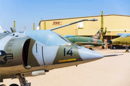 TUCSON, USA - JULY 14: visiting the Pima Air and space Museum at July 14, 2012 in Tucson, USA. The museum is one of the largest aviation museums in the world and maintains a collection of 700 aircrafts. Stock Photo - 16979041