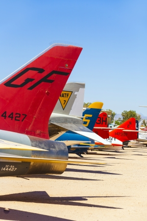 TUCSON, USA - JULY 14: visiting the Pima Air and space Museum at July 14, 2012 in Tucson, USA. The museum is one of the largest aviation museums in the world and maintains a collection of 700 aircrafts. Stock Photo - 16979050