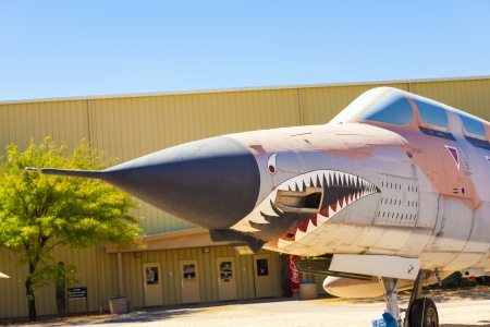 pima: TUCSON, USA - JULY 14: visiting the Pima Air and space Museum at July 14, 2012 in Tucson, USA. The museum is one of the largest aviation museums in the world and maintains a collection of 700 aircrafts. Editorial
