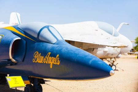 TUCSON, USA - JULY 14: visiting the Pima Air and space Museum at July 14, 2012 in Tucson, USA. The museum is one of the largest aviation museums in the world and maintains a collection of 700 aircrafts. Stock Photo - 16979040
