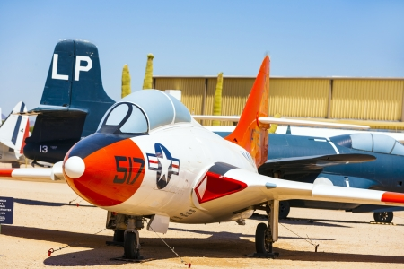 TUCSON, USA - JULY 14: visiting the Pima Air and space Museum at July 14, 2012 in Tucson, USA. The museum is one of the largest aviation museums in the world and maintains a collection of 700 aircrafts. Stock Photo - 16979044