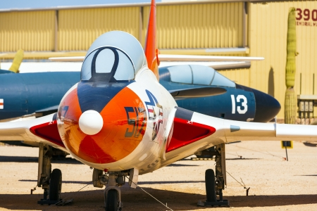 TUCSON, USA - JULY 14: visiting the Pima Air and space Museum at July 14, 2012 in Tucson, USA. The museum is one of the largest aviation museums in the world and maintains a collection of 700 aircrafts. Stock Photo - 16979045