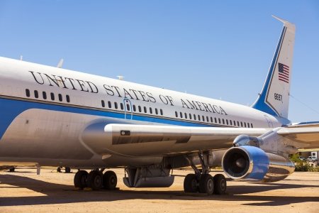 TUCSON, USA - JULY 14: visiting the Pima Air and space Museum at July 14, 2012 in Tucson, USA. The air force one ist the aircraft of the american president. Stock Photo - 16979049