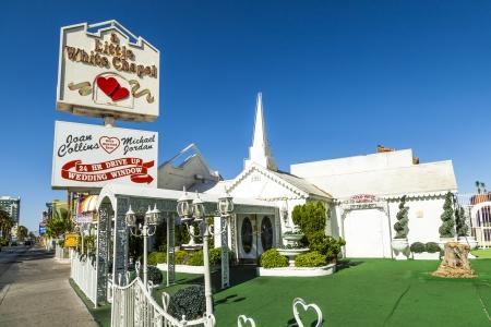 LAS VEGAS - JUNE 15: Little White Wedding Chapel on June 15, 2012 in Las Vegas, USA. ichael Jordan and Joan Collins married in that chapel.