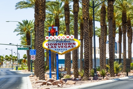 Downtown Las Vegas welcome sign at the strip Stock Photo - 16994840