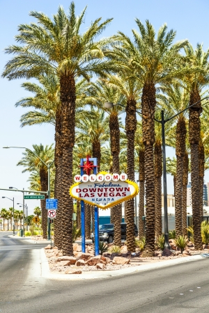 Downtown Las Vegas welcome sign at the strip Stock Photo - 16994841