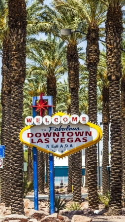 Downtown Las Vegas welcome sign at the strip Stock Photo - 16994839