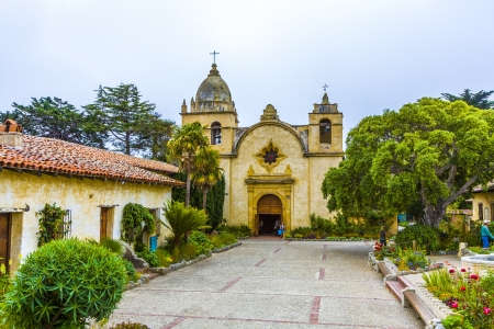 carmel: CARMEL, USA - JULY 27: Carmel Mission on JULY 27, 2012 in Carmel, USA. The Mission was founded in 1770 by Fr. Junipero Serra as second mission in California.