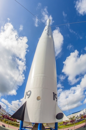 ORLANDO, USA - JULY 25: The Rocket Garden at Kennedy Space Center features 8 authentic rockets from past space explorations on July 25, 2010 in Orlando, USA. Stock Photo - 17063500