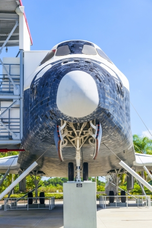 ORLANDO, USA - JULY 25: The original space shuttle Explorer standing at Kennedy Space Center open for visitors to enter also the inside on July 25, 2010 in Orlando, USA. Stock Photo - 17069758
