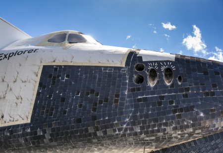 ORLANDO, USA - JULY 25: The space shuttle Explorer OV100 at Kennedy Space  on July 25, 2010 in Orlando, USA.  It was built in Apopka and, installed at Kennedy Space Center Visitor Complex in 1993.