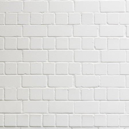 background with fragment of white brick wall photo