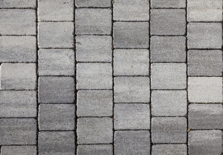 grey tiles give a harmonic pattern at the ground photo