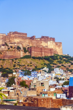 A view of Jodhpur, the Blue City of Rajasthan, India photo