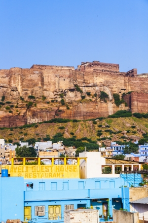 A view of Jodhpur with Mehrangarh Fort, the Blue City of Rajasthan, India photo