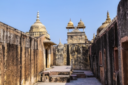 jagmandir: Beautiful Amber Fort near Jaipur city in India. Rajasthan Stock Photo