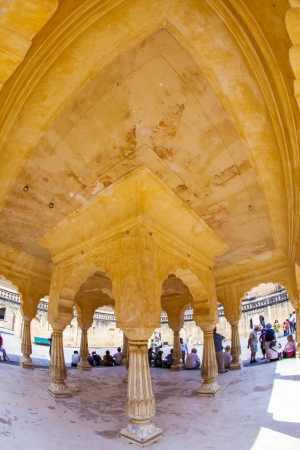 ladies comparmnent zenani deorhi in beautiful Amber Fort near Jaipur city in India. Rajasthan photo