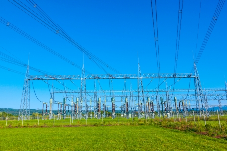 electrical power plant in beautiful colorful meadow Stock Photo - 17648636