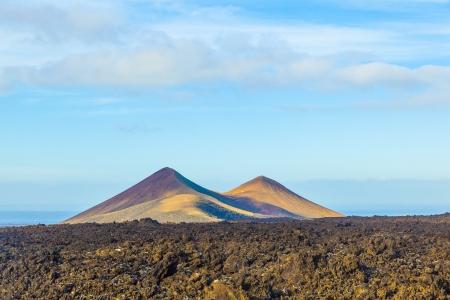 timanfaya: volcano in timanfaya national park in Lanzarote, Spain