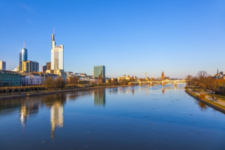 cityview of Frankfurt with river main photo