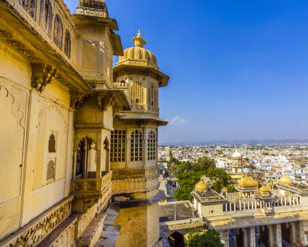 jagmandir: view to ancient city of Udaipur from the Kumbhalgarh Fort