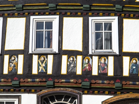 apostel half timbered house in fairy tale town of Steinau Stock Photo - 17880910