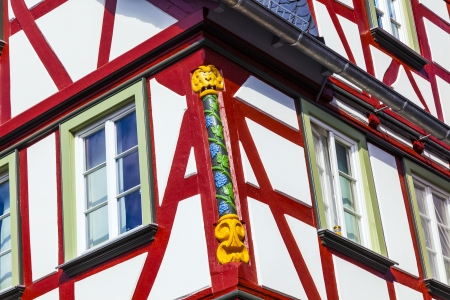 old town of wetzlar with timbered houses and carvings in the wood Stock Photo - 18069607
