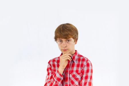portrait of boy in sorrow Stock Photo - 18086636